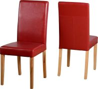 See more information about the G3 Leather Style Dining Chair - RUSTIC RED