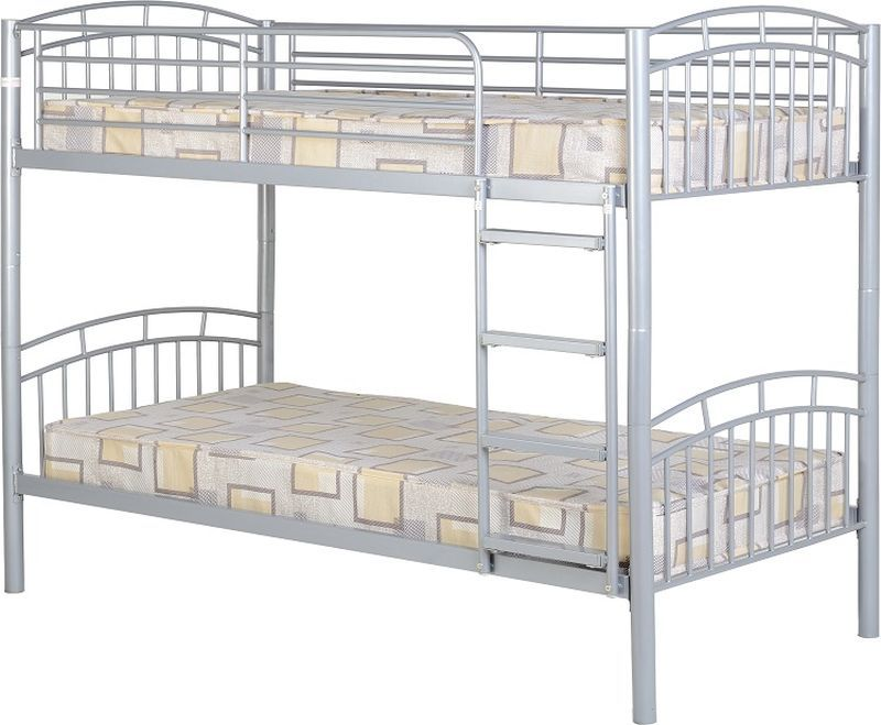 Ventura Single Bunk Bed - Silver