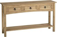 See more information about the Corona 3 Drawer Console Table with Shelf