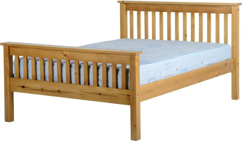Monaco Double Bed - Antique Pine