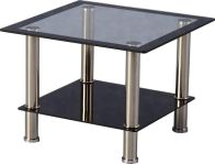 See more information about the Harlequin Lamp Table - BLACK BORDER/CHROME