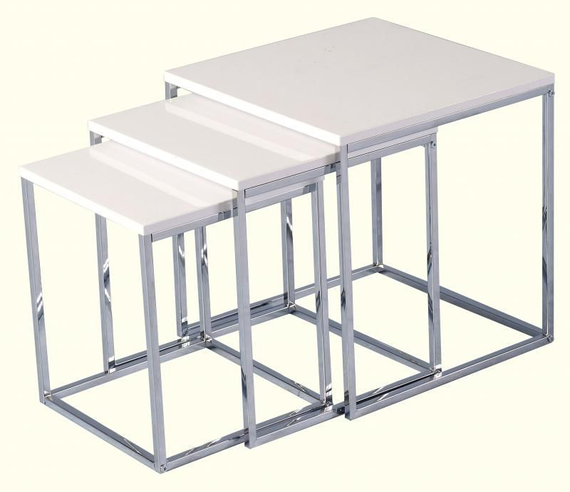 Charisma Nest of Tables - WHITE GLOSS