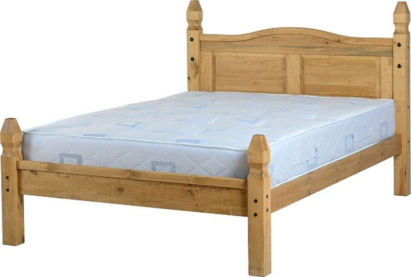 Mexican Princess Double Bed - Distressed Waxed Pine