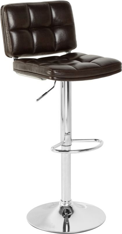 Hudson Swivel Bar Chair With Gas Lift (PAIR) - BLACK PU/CHROME