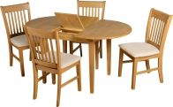 See more information about the Oxford Extending Dining Set - NATURAL OAK/MINK SUEDE