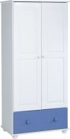 See more information about the Rainbow Wardrobe (2 Door 1 Drawer) - BLUE/WHITE