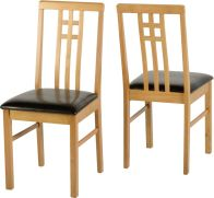 See more information about the Vienna Dining Chair (SINGLE) - MEDIUM OAK/BROWN