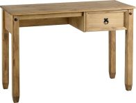 See more information about the Budget Mexican Study Desk (1 Drawer) - DISTRESSED WAXED PINE