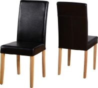 See more information about the G3 Leather Style Dining Chair - EXPRESSO BROWN