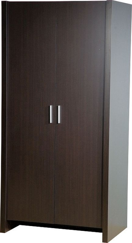 Denver Bedroom Wardrobe (2 Door) - EXPRESSO BROWN