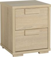 See more information about the Cambourne Bedside Chest (2 Drawer) - SONOMA OAK