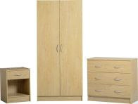 See more information about the Bellingham Bedroom Set (Stand, Wardrobe & Chest) - BEECH