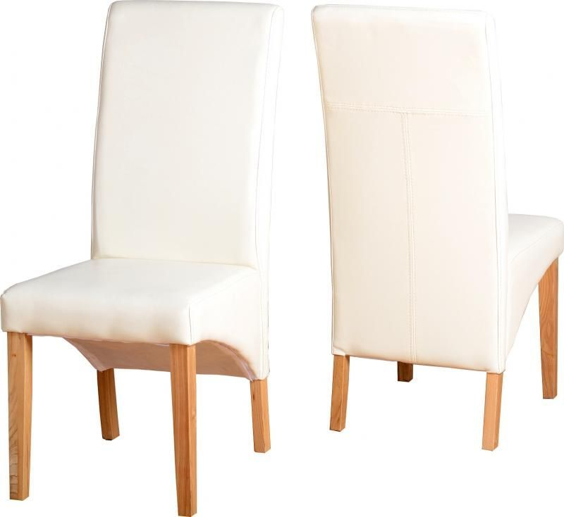 G1 Leather Style Dining Chair - CREAM