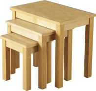 See more information about the Oakleigh Nest of Tables - NATURAL OAK VENEER