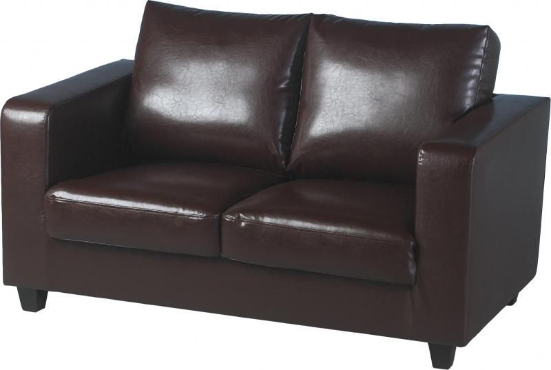 Tempo Leather Two Seater Sofa-in-a-Box - EXPRESSO BROWN