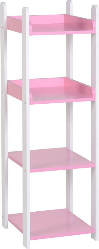 Lollipop 4 Shelf Unit - WHITE/PINK