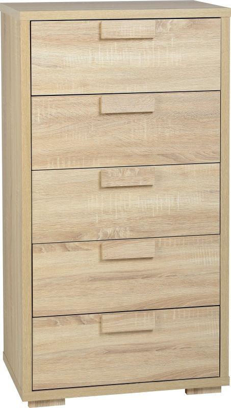 Cambourne Contemporary Chest (5 Drawer) - SONOMA OAK