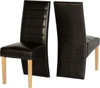 See more information about the G5 Leather Style Dining Chair - EXPRESSO BROWN