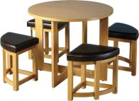 See more information about the Sherwood Stowaway Dining Set - ASH VENEER/MOCCA