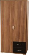 See more information about the Hollywood Walnut Wardrobe (2 Door 2 Drawer)