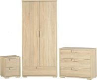 See more information about the Cambourne Bedroom Set (Bedside Drawers, Wardrobe & Chest) - SONOMA OAK