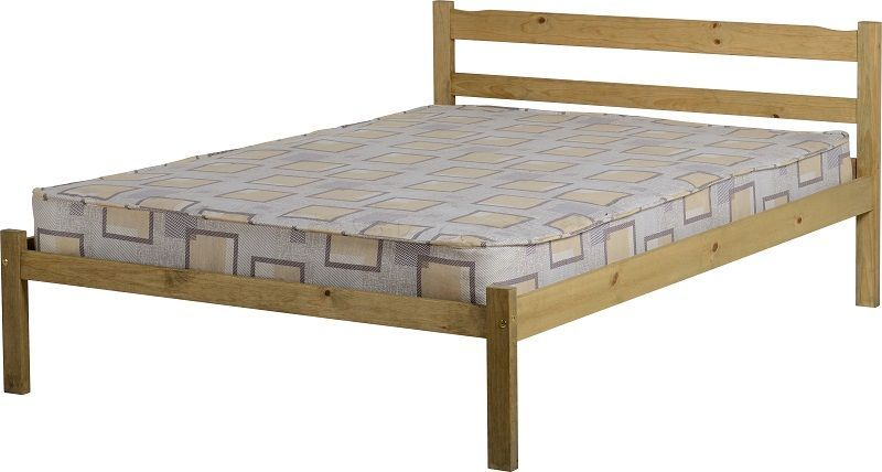 Panama Double Bed - Natural Wax