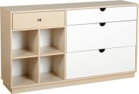 See more information about the Fusion Classic Sideboard (4 Drawer) - IVORY MAPLE/WHITE