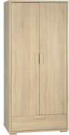 See more information about the Cambourne Contemporary Wardrobe (2 Door 1 Drawer) - SONOMA OAK