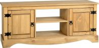 See more information about the Corona Flat Screen TV Unit (2 Door 1 Shelf) - DISTRESSED WAXED PINE