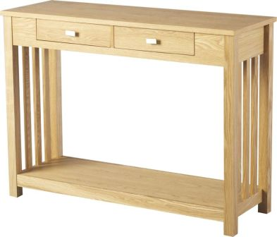 Ashmore Console Table (2 Drawer)  ASH VENEER
