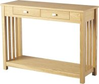 See more information about the Ashmore Console Table (2 Drawer) - ASH VENEER