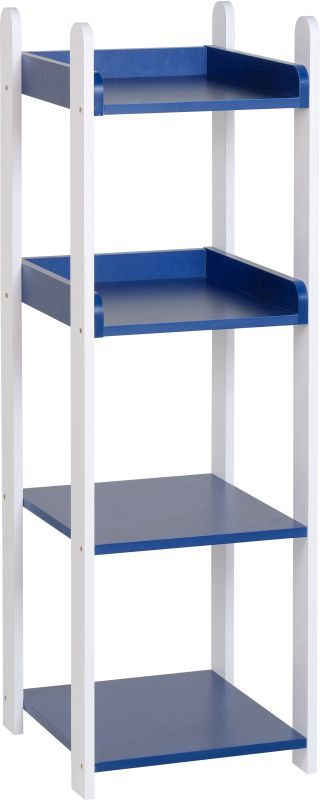 Lollipop 4 Shelf Unit - WHITE/BLUE