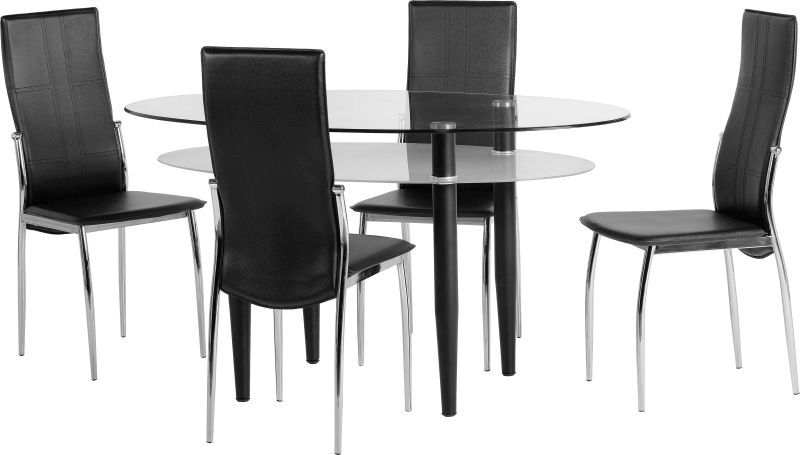 Berkley Dining Set - BLACK/FROSTED