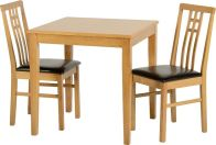 See more information about the Vienna Dining Set - MEDIUM OAK/BROWN