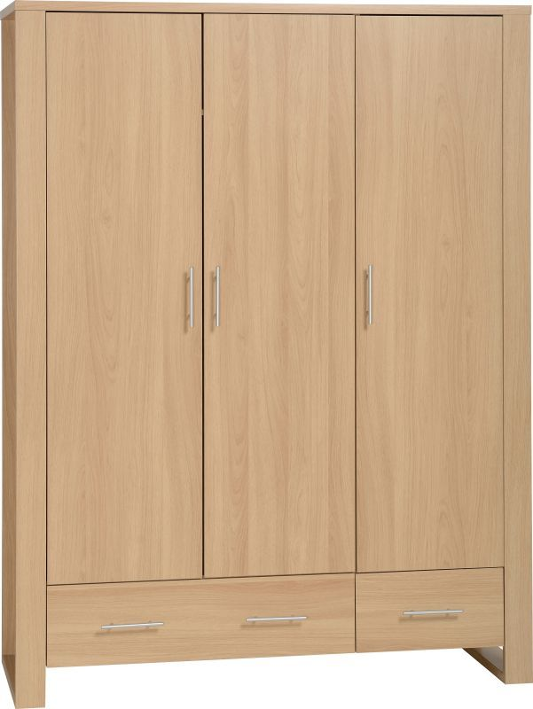 Kingston Modern Wardrobe (3 Door) - EURO OAK