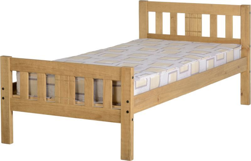 Rio Single Bed - Distressed Waxed Pine