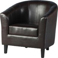 See more information about the Tempo Leather Tub Chair - EXPRESSO BROWN