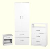 See more information about the Polar Bedroom Set - WHITE