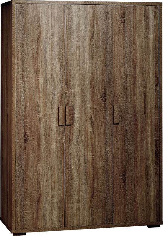 Cambourne Wardrobe (3 Door) - DARK SONOMA OAK