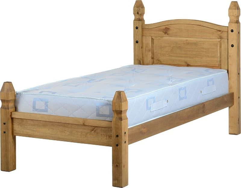 Mexican Princess Single Bed - Distressed Waxed Pine