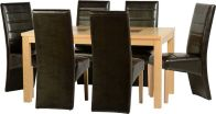 See more information about the Wexford 59 inch Dining Set - G5 - OAK/WALNUT/EXP BROWN