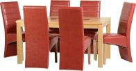 See more information about the Wexford 59 inch Dining Set - G5 - OAK/WALNUT/RUSTIC RED