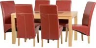 See more information about the Wexford 59 inch Dining Set - G1 - OAK\WALNUT\RUSTIC RED