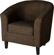 See more information about the Tempo Tub Chair - DARK BROWN FABRIC