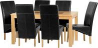 See more information about the Wexford 59 inch Dining Set - G1 - OAK\WALNUT\BLACK