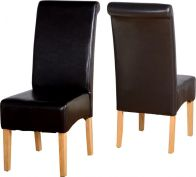 See more information about the G10 Leather Style Dining Chair - EXPRESSO BROWN