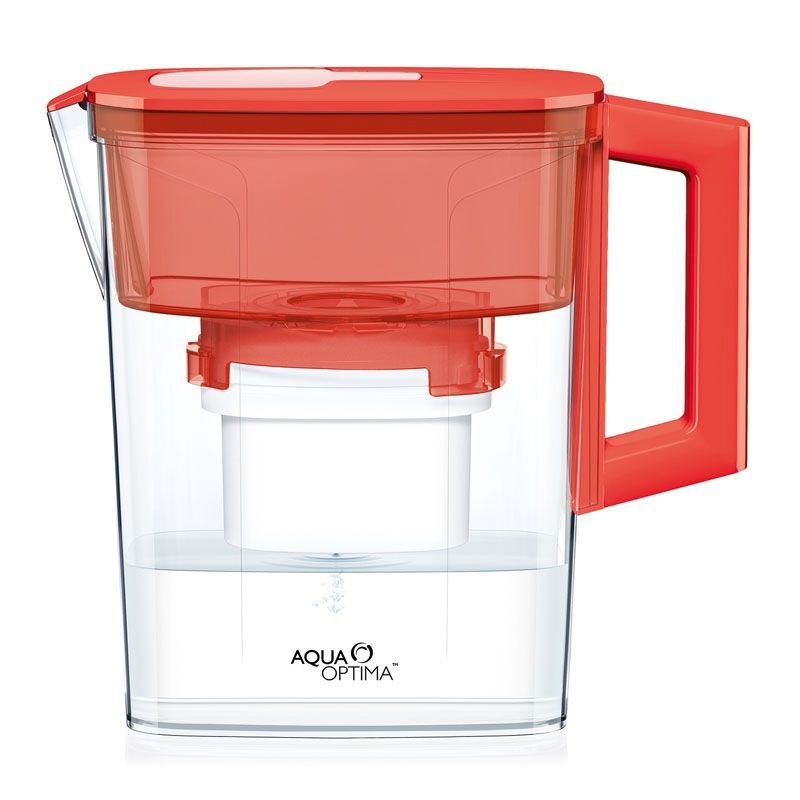 Compact 30 Day Water Filter Jug (Red)