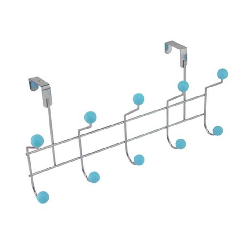 5 Hooks with Polyresin Ball - blue