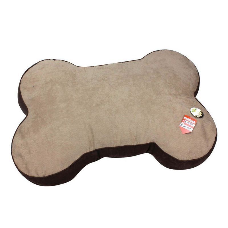 Bone Faux Suede Pet Bed
