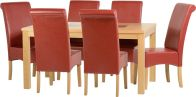 See more information about the Wexford 59 inch Dining Set - G10 - OAK/WALNUT/RUSTIC RED